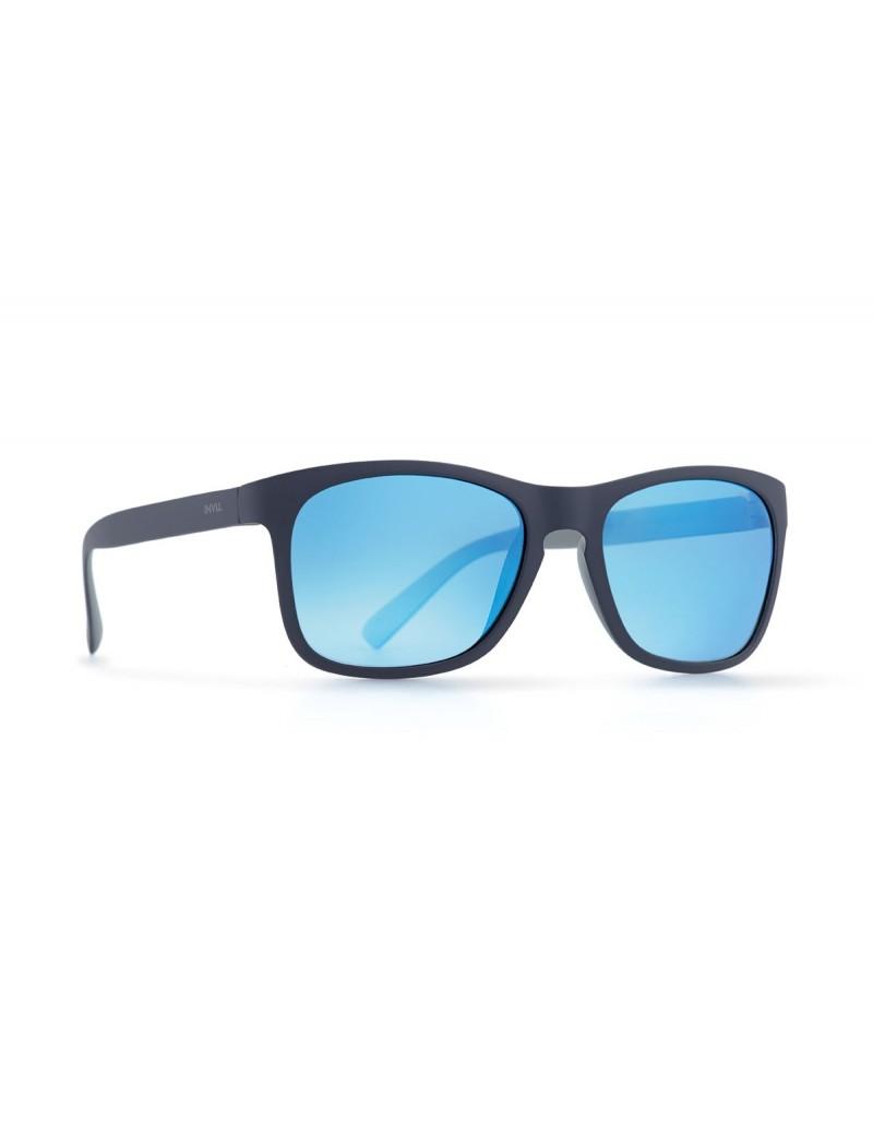Occhiali da sole Invu. modello Trendy T2812D colore blu navy opaco/grigio