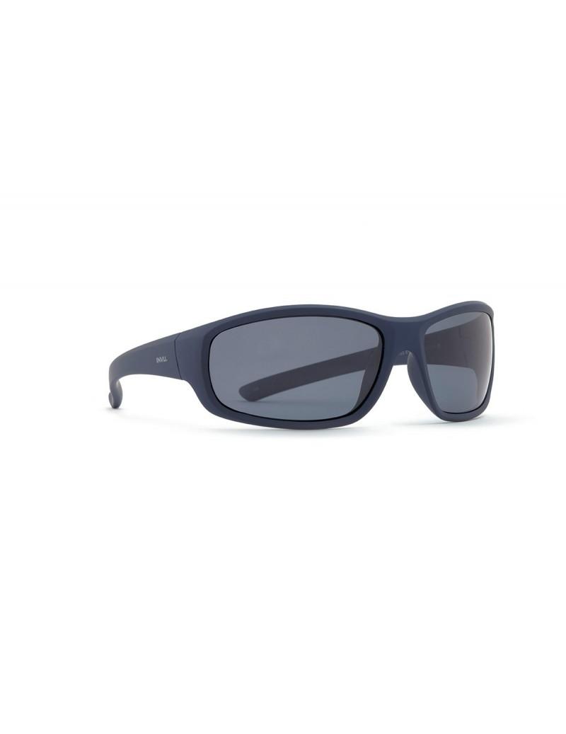 Occhiali da sole Invu. modello A2501C colore blu gommato