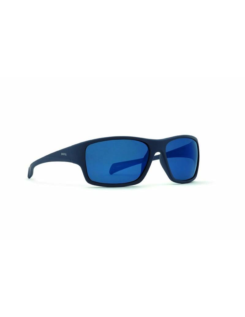 Occhiali da sole Invu. modello A2710B colore navy gommato