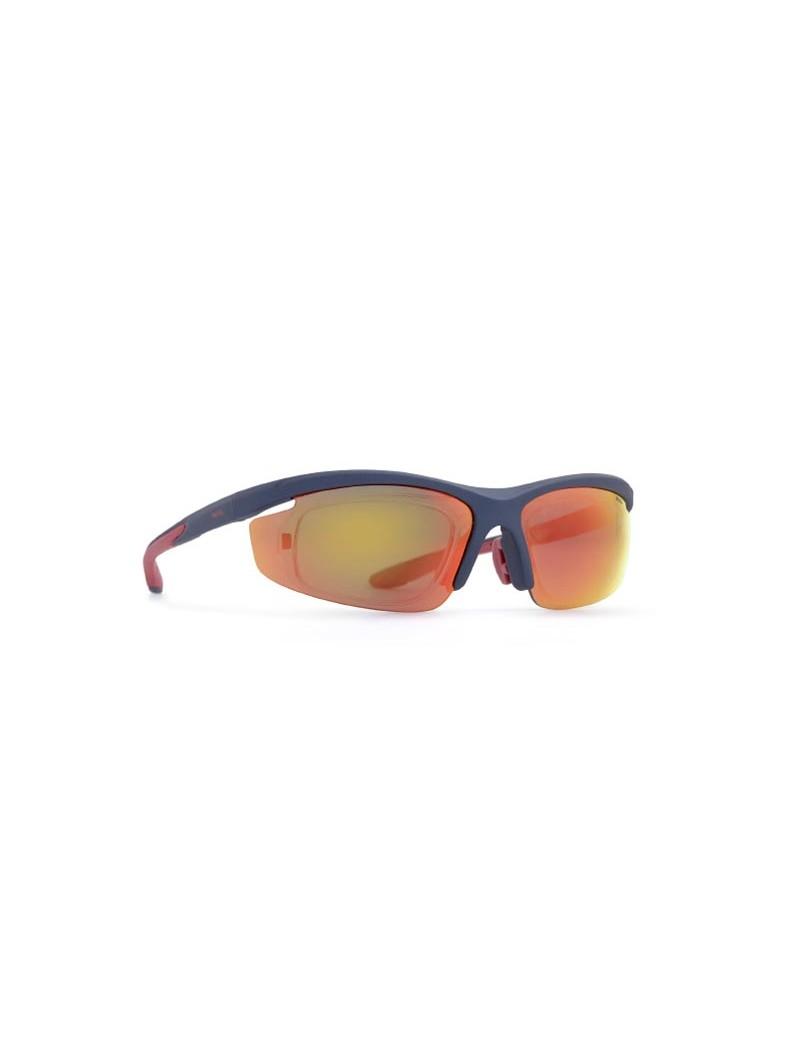 Occhiali da sole Invu. modello A2806A colore blu navi opaco opt. clip