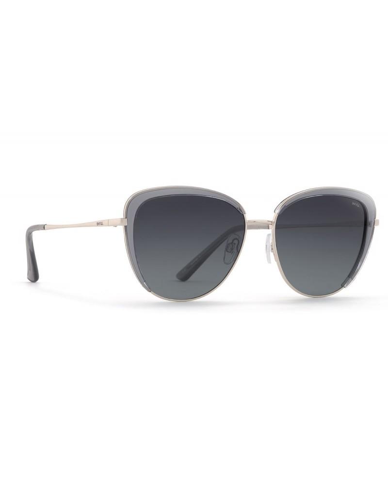 Occhiali da sole Invu. modello B1913A colore grigio/acciaio