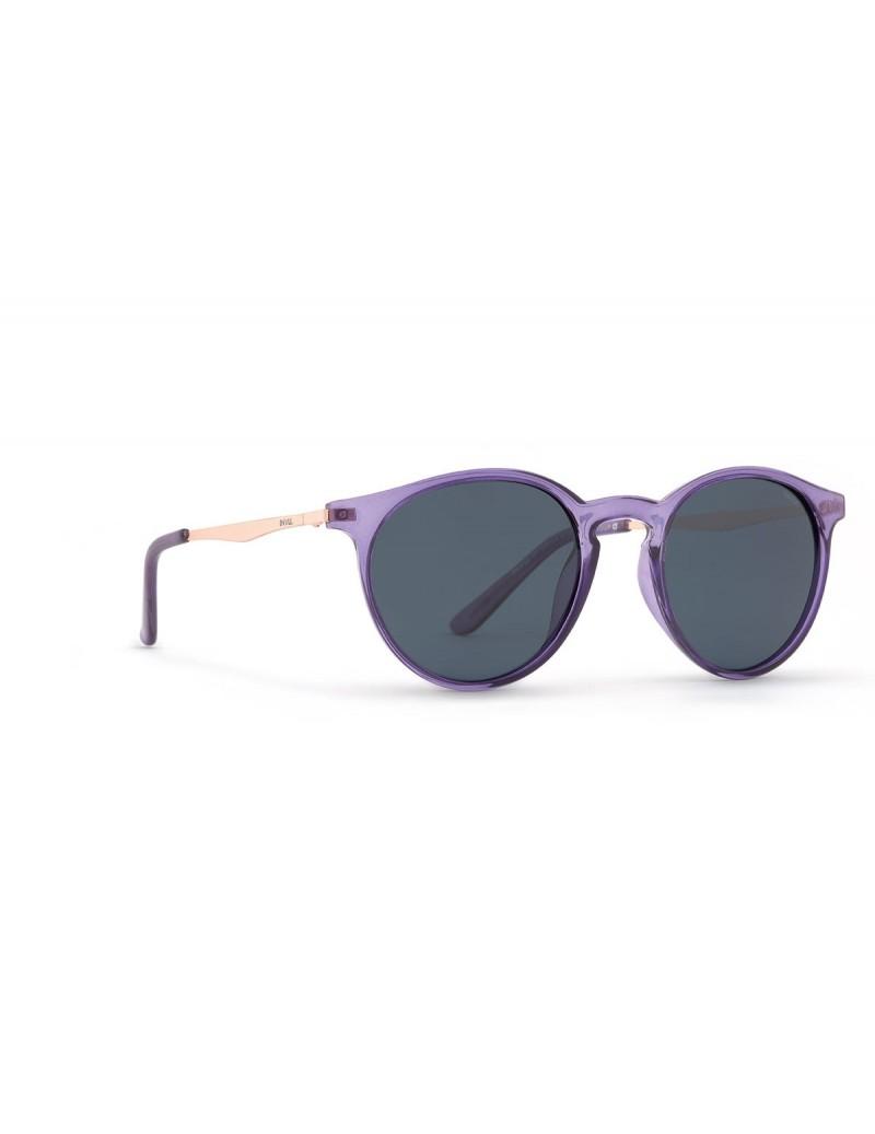 Occhiali da sole Invu. modello K2905C colore viola trasp./oro