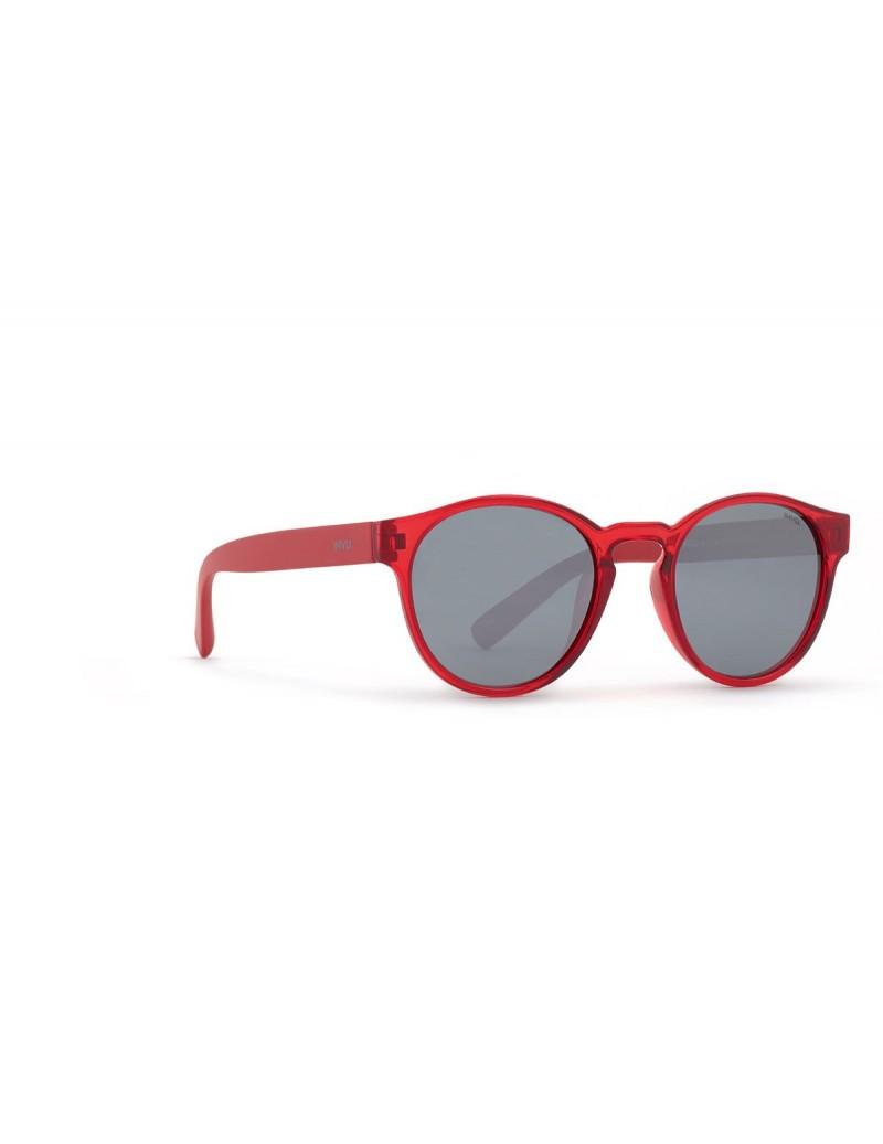 Occhiali da sole Invu. modello K2908B colore rosso trasp./rosso opaco