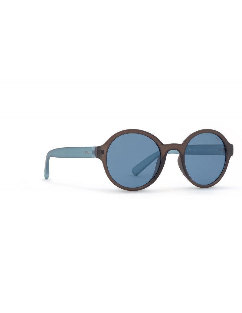 Occhiali da sole Invu. modello K2910D colore grigio satinato/blu