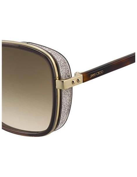 Occhiali da sole Jimmy Choo modello Elva/s colore FG4/HA BROWN GOLD