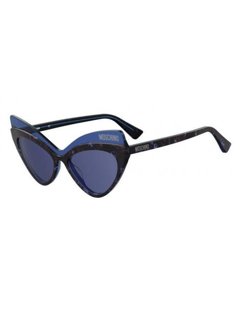 Occhiali da sole Moschino modello Mos080/s colore IPR/KU HAVANA BLUE